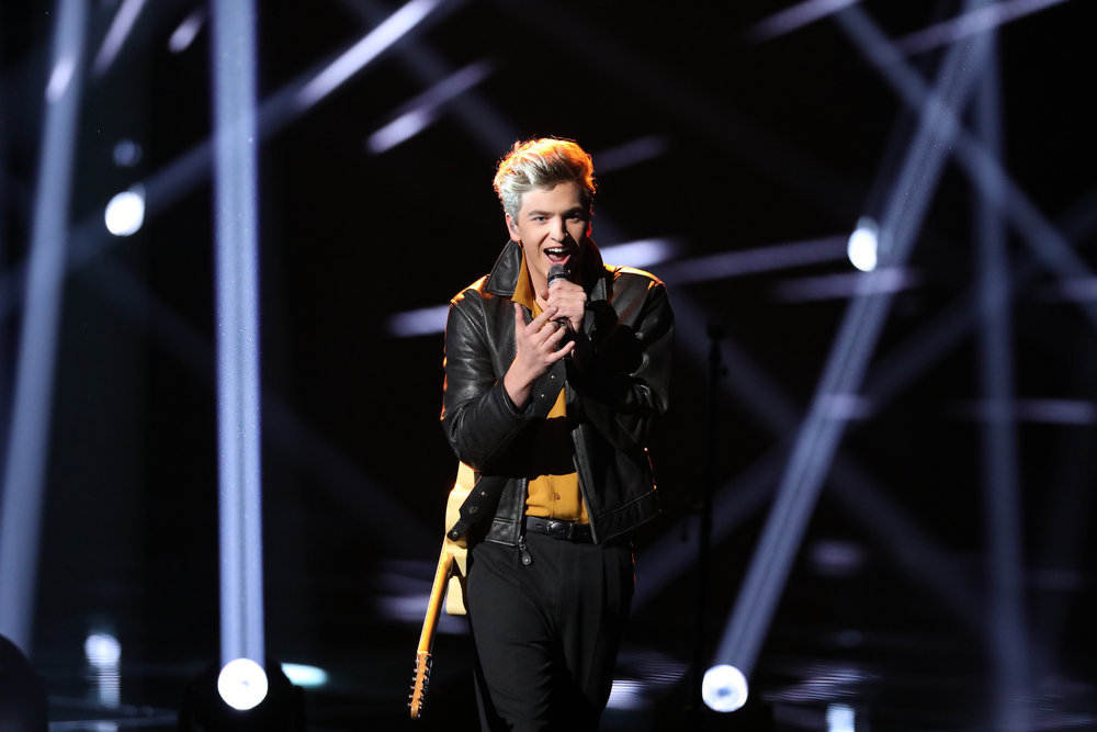 Noah Mac performs The Sound of Speed on The Voice. (NBC Photo)