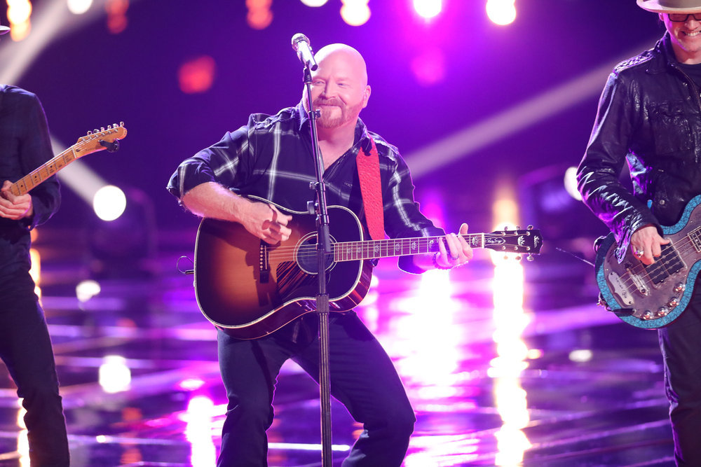 """Red Marlow sings """"The Church on Cumberland Road"""" on The Voice. (NBC Photo)"""