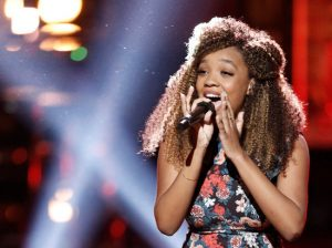 Shi'Ann Jones, the youngest singer on Season 13 of The Voice, has made it to the finals. (NBC Photo)
