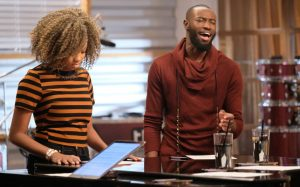 Shi'Ann Jones and Stephan Marcellus prepare for their battle round on The Voice (NBC Photo)