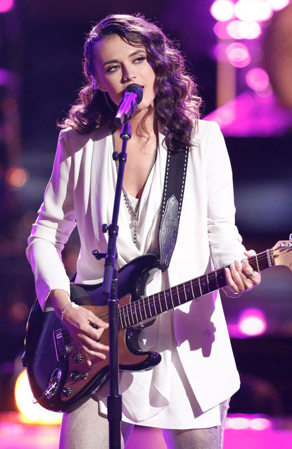 Whitney Fenimore during the playoffs on The Voice Season 13. (NBC Photo)