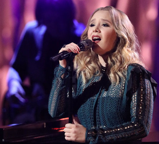 Addison Agen performs on The Voice Tuesday night. (NBC Photo)