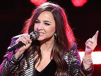 Alisan Porter is part of The Voice show in Las Vegas. (NBC Photo)