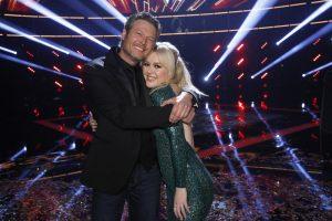Blake Shelton hugs his latest winner on The Voice, Chloe Kohanski. (NBC Photo)