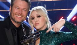 Blake Shelton and Chloe Kohanski, winner of The Voice Season 13