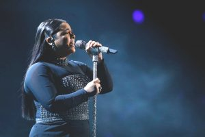 """Brooke Simpson performs """"Amazing Grace"""" on The Voice Top 10 show Monday night. (NBC Photo)"""