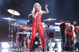 "Chloe Kohanski sings ""Call Me"" on The Voice Top 10 show Monday night. (NBC Photo)"