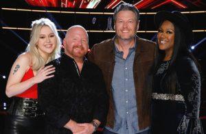 Chloe Kohanski, Red Marlow and, Keisha Renee of Team Blake are among the social media leaders on The Voice. (NBC Photo)