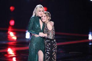 Chloe Kohanski and Addison Agen wait to hear who has won Season 13 of The Voice. (NBC Photo)