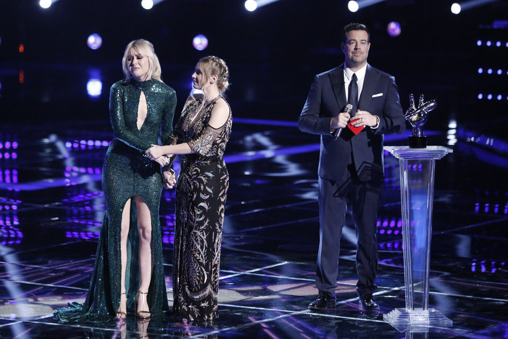 Chloe Kohanski reacts to winning The Voice. (NBC Photo)