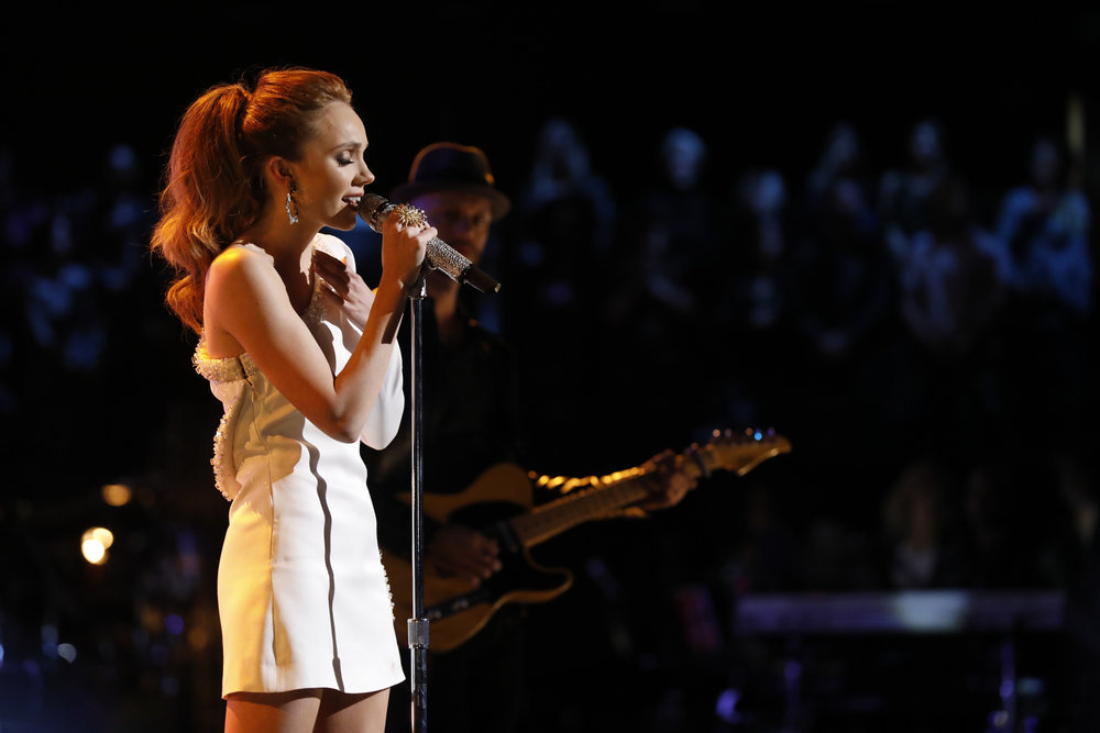 Danielle Bradbery performs Worth It on The Voice. (NBC Photo)