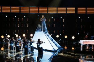 "Keisha Renee performs ""All By Myself"" on The Voice Top 10 show Monday night. (NBC Photo)"