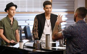 Michael Kight and Anthony Alexander talk about their battle round match with Adam Levine. (NBC Photo)