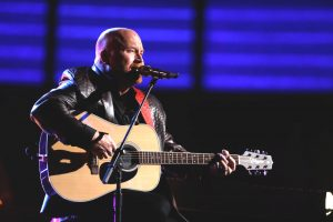 "Red Marlow sings ""That's What I Love About Sunday"" on The Voice Top 10 show Monday night. (NBC Photo)"