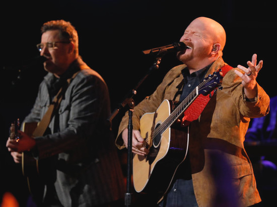 Red Marlow performs with Vince Gill on The Voice season finale. (NBC Photo)