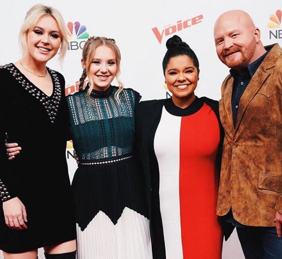 The Voice Top 4, Chloe Kohanski, Addison Agen, Brooke Simpson and Red Marlow (NBC Photo)