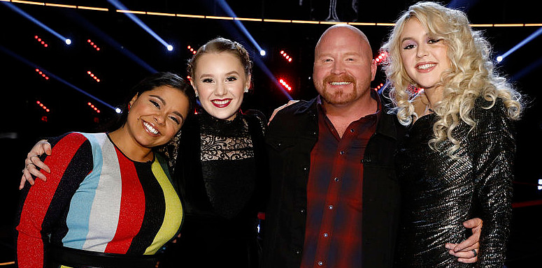 The Top 4 on The Voice -- Brooke Simpson, Addison Agen, Red Marlow and Chloe Kohanski (NBC Photo)