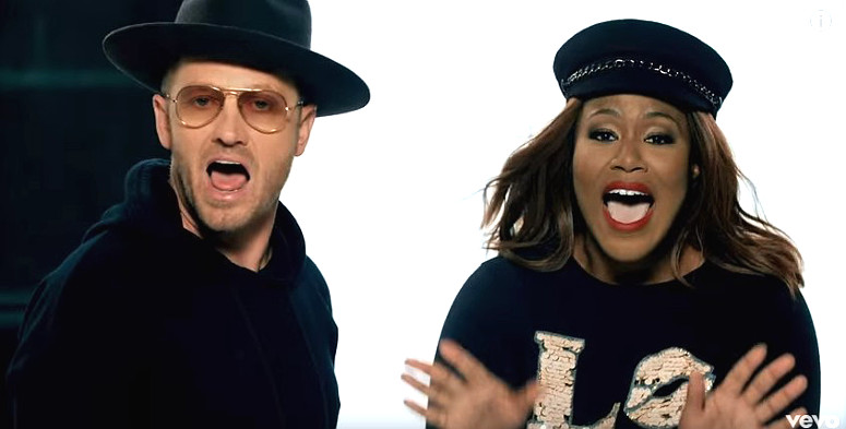 """Toby Mac and Mandisa in the video for """"Bleed the Same"""""""