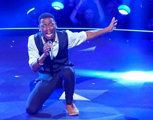 Jason Warrior, a former contestant on The Voice, performs on week two of The Four. (FOX Photo)