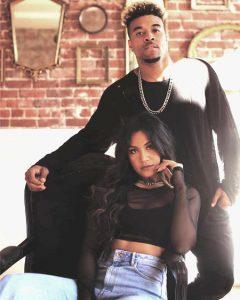 "Maharasyi with her video co-star in""Nostalgia,"" Kevin ""Konkrete"" Davis."