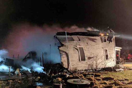 Crystal Bowersox posted this photo of her childhood home after it was destroyed by fire late last week.