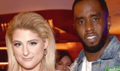 Meghan Trainor and Sean Diddy Combs of The Four