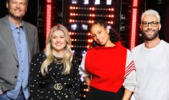 Season 14 Voices coaches Blake Shelton, Kelly Clarkson, Alicia Keys, Adam Levine